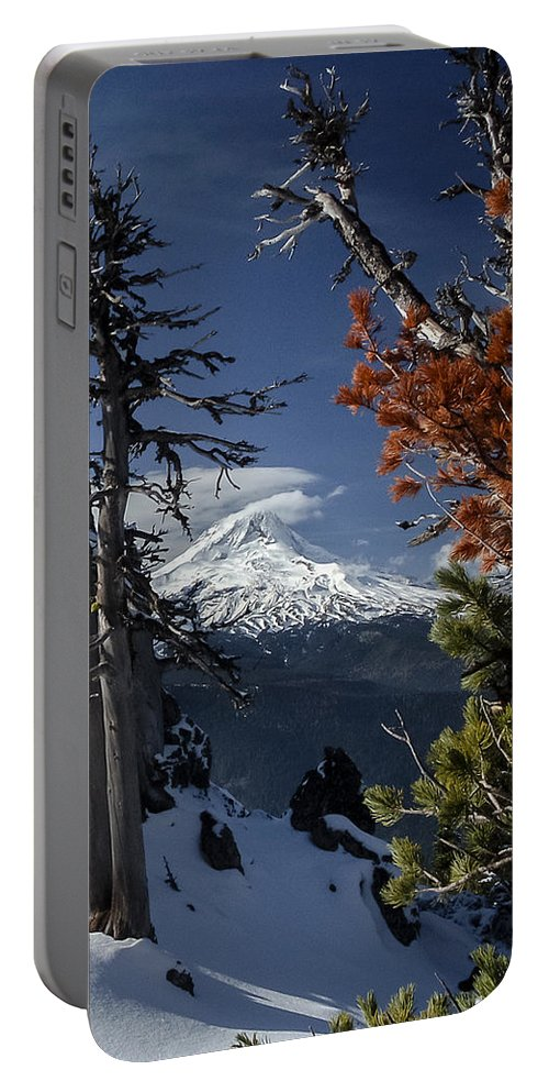 Mountains Portable Battery Charger featuring the photograph Mt Hood From Lookout Mtn by Albert Seger