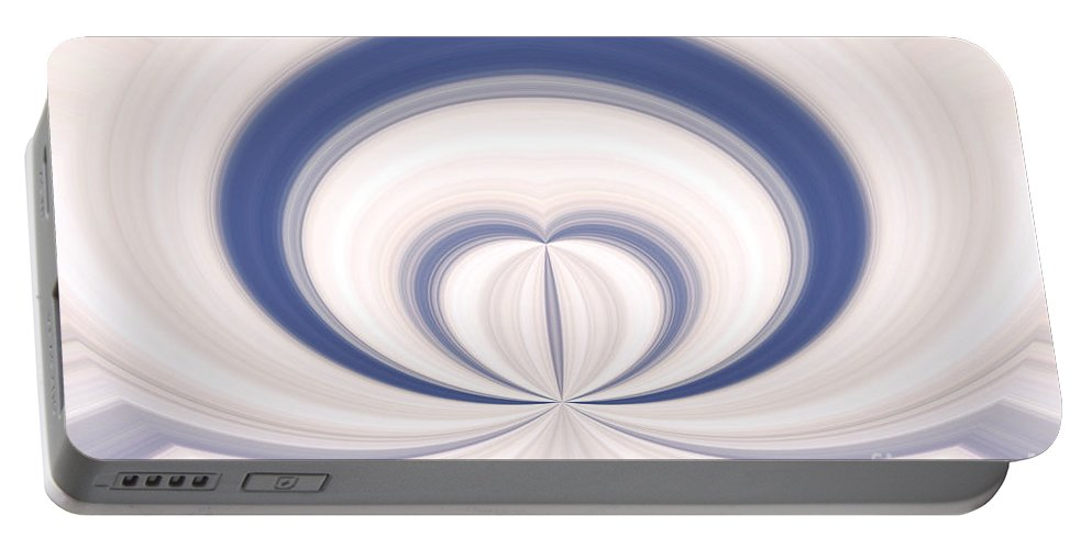 New Portable Battery Charger featuring the digital art Abstract Love by Dan Radi