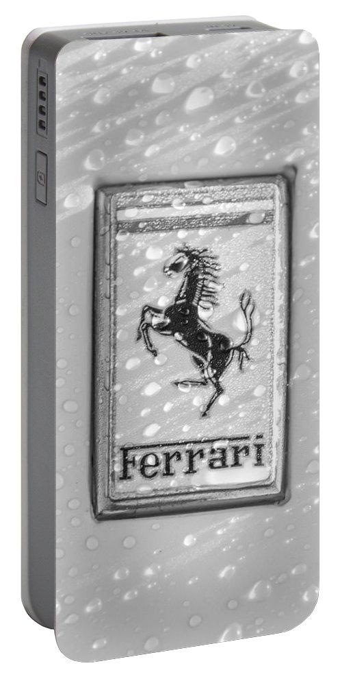 Ferrari Emblem Portable Battery Charger featuring the photograph Ferrari Emblem by Jill Reger