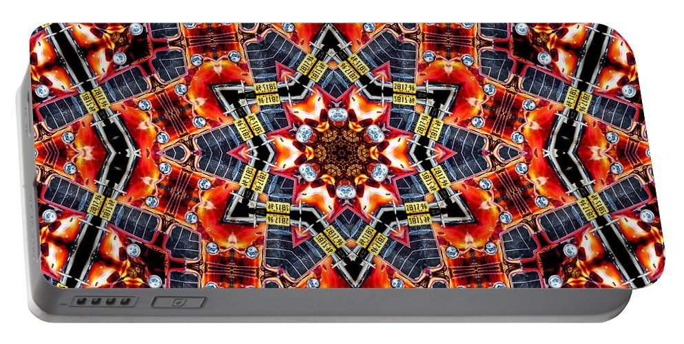Ford Portable Battery Charger featuring the photograph 35 Ford Kaleidoscope by Lynne Jenkins