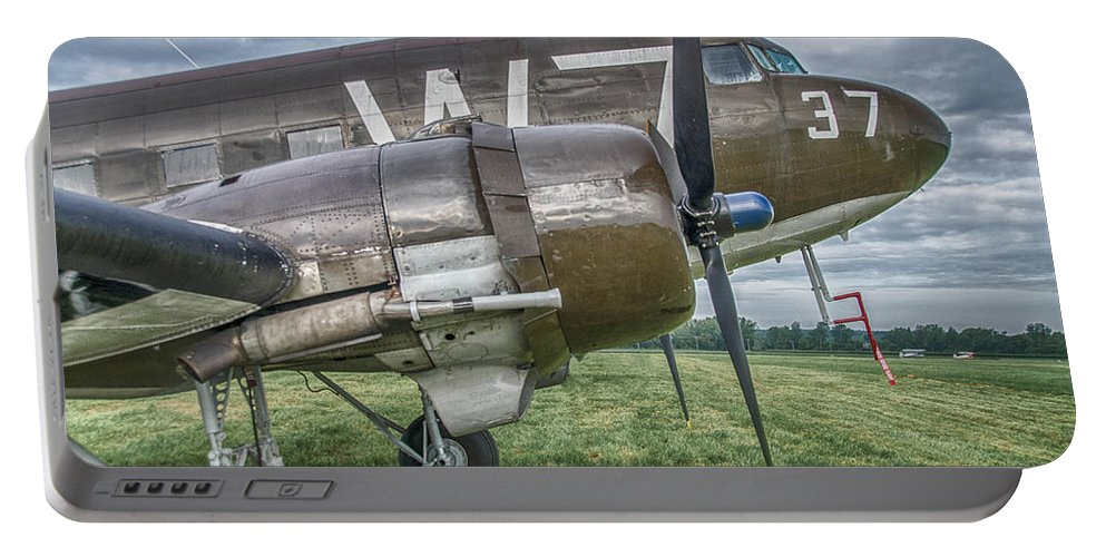 Aviation Portable Battery Charger featuring the photograph 37 37 by Guy Whiteley