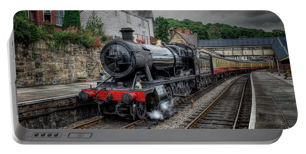 1938 Portable Battery Charger featuring the photograph 3802 At Llangollen Station by Adrian Evans