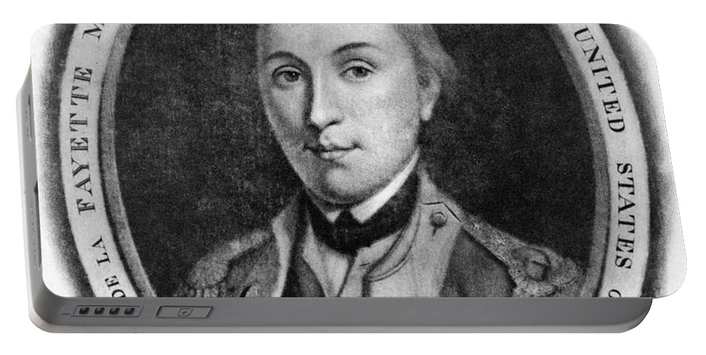18th Century Portable Battery Charger featuring the photograph Marquis De Lafayette by Granger