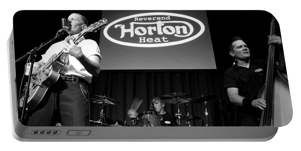The Reverend Horton Heat Portable Battery Charger featuring the photograph Untitled by Chiara Corsaro