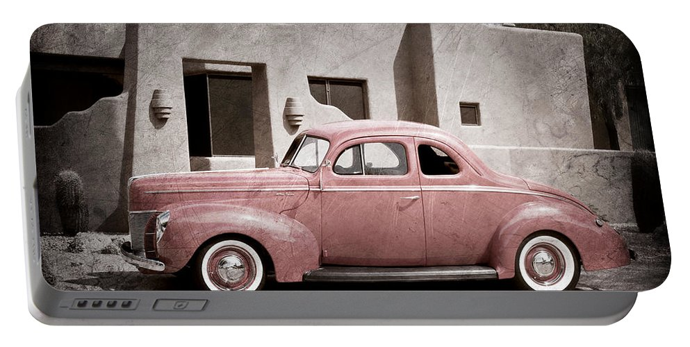 1940 Ford Deluxe Coupe Portable Battery Charger featuring the photograph 1940 Ford Deluxe Coupe by Jill Reger