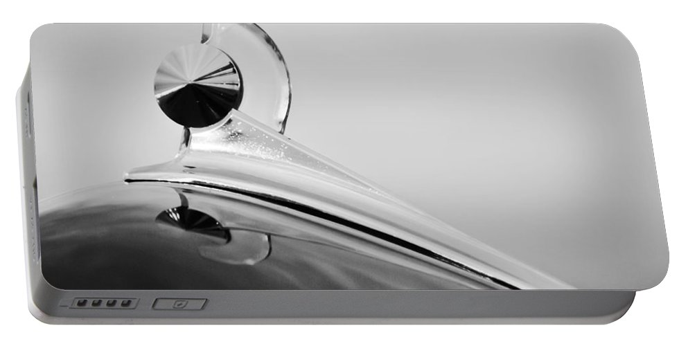 1949 Ford Hood Ornament Portable Battery Charger featuring the photograph 1949 Ford Hood Ornament by Jill Reger