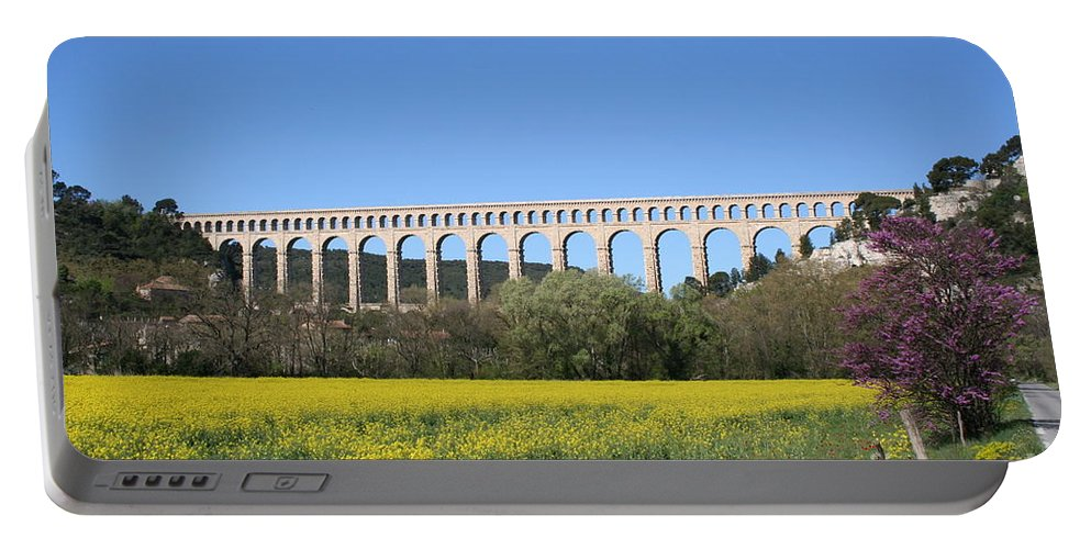Aqueduct Portable Battery Charger featuring the photograph Aqueduct Roquefavour by Christiane Schulze Art And Photography