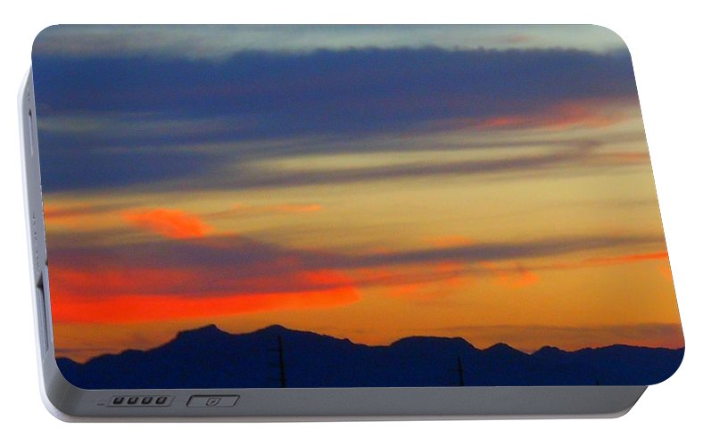 Landscape Portable Battery Charger featuring the photograph Arizona Sunset by James Welch