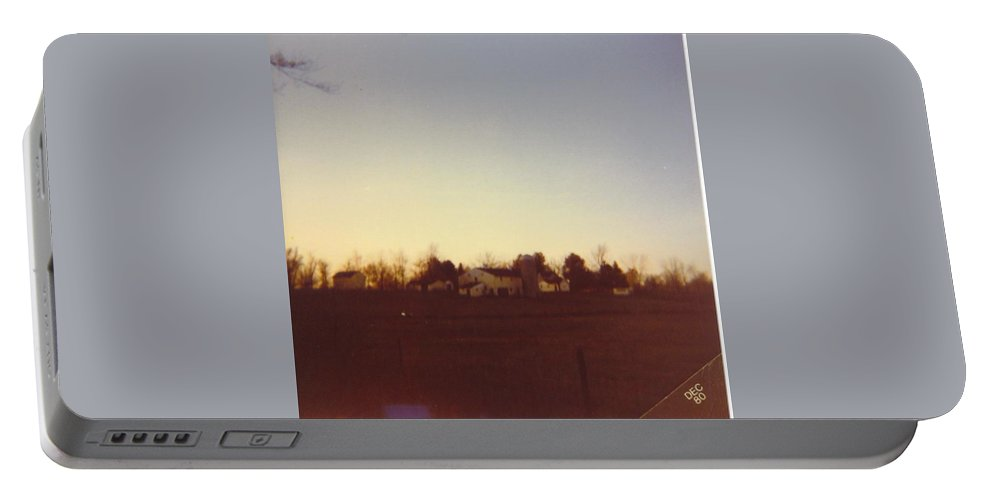 Michigan Farm Portable Battery Charger featuring the photograph Barns by Robert Floyd