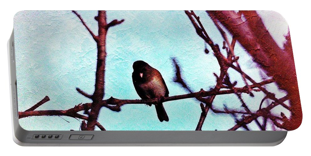 Birds Portable Battery Charger featuring the photograph Bird In Tree by Karl Rose