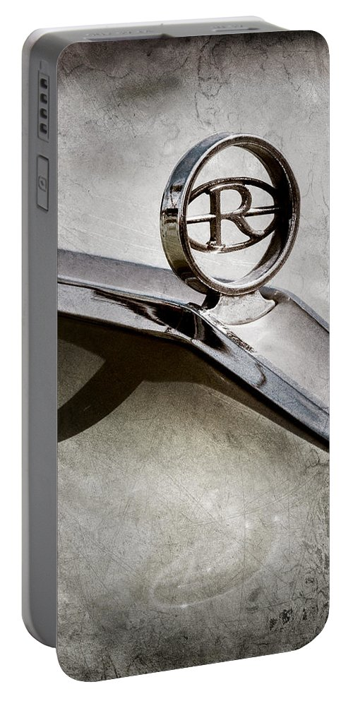 Buick Riviera Hood Ornament Portable Battery Charger featuring the photograph Buick Riviera Hood Ornament by Jill Reger