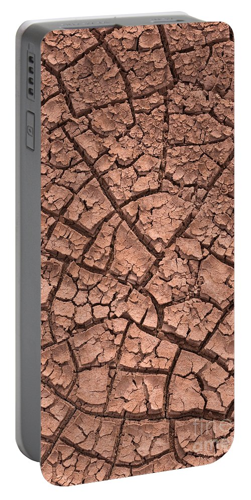 Dry Portable Battery Charger featuring the photograph Cracked Dry Clay by John Shaw