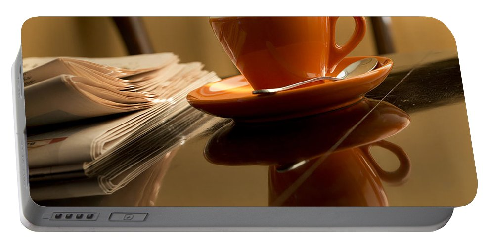 Coffee Portable Battery Charger featuring the photograph Espresso by Chevy Fleet