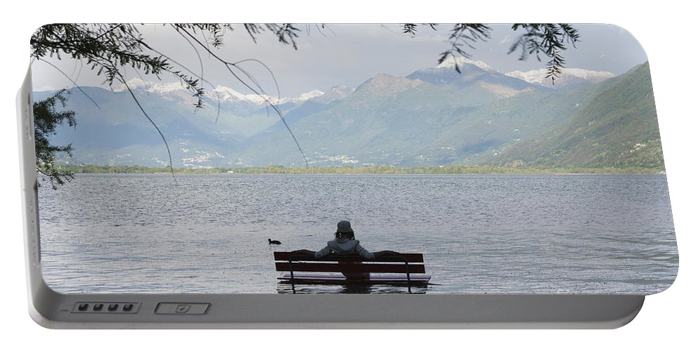 Woman Portable Battery Charger featuring the photograph Flooding Lake by Mats Silvan