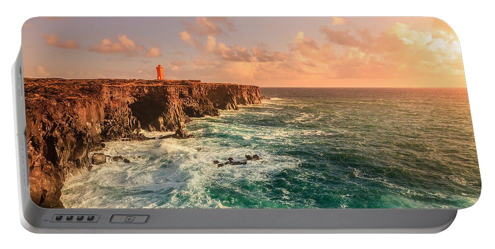 Europe Portable Battery Charger featuring the photograph Icelandic Coast by Alexey Stiop