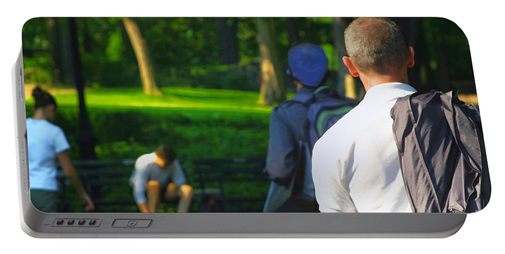 Man Portable Battery Charger featuring the photograph Into The Park by Madeline Ellis