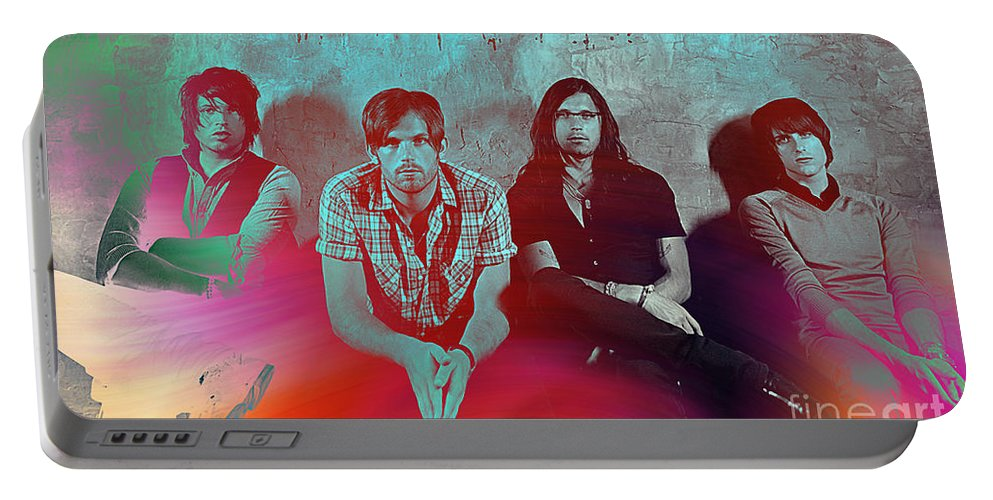 Kings Of Leon Photographs Mixed Media Portable Battery Charger featuring the mixed media Kings Of Leon by Marvin Blaine