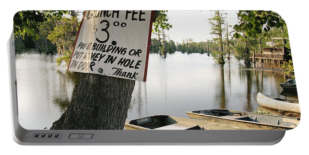 Launch Fee Portable Battery Charger featuring the photograph Launch Fee by Scott Pellegrin