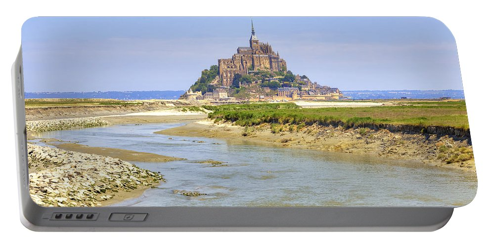 Le Mont-saint-michel Portable Battery Charger featuring the photograph Mont Saint-michel - Normandy by Joana Kruse