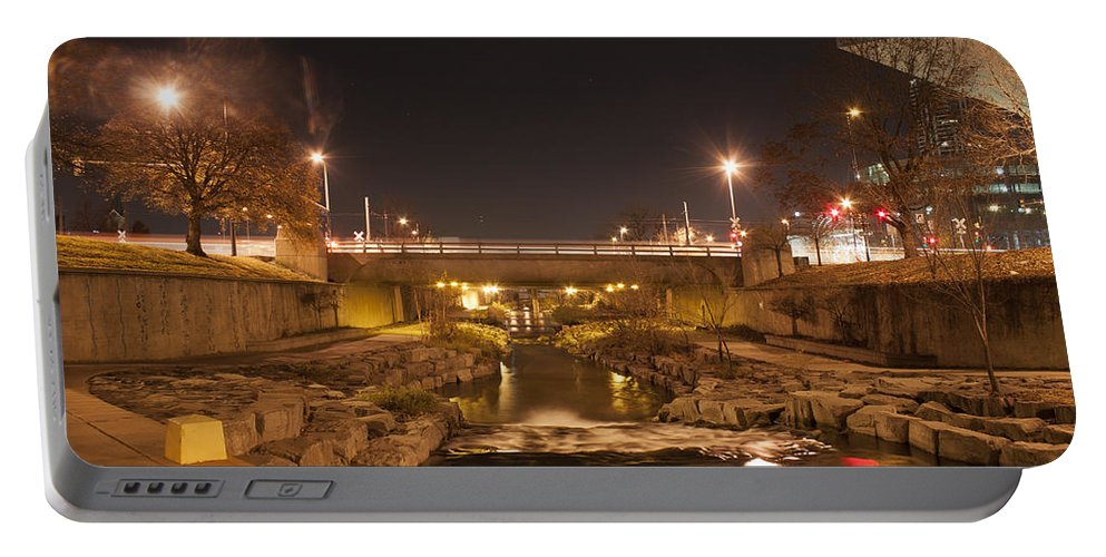 Portable Battery Charger featuring the photograph Night Lights by Angus Hooper Iii