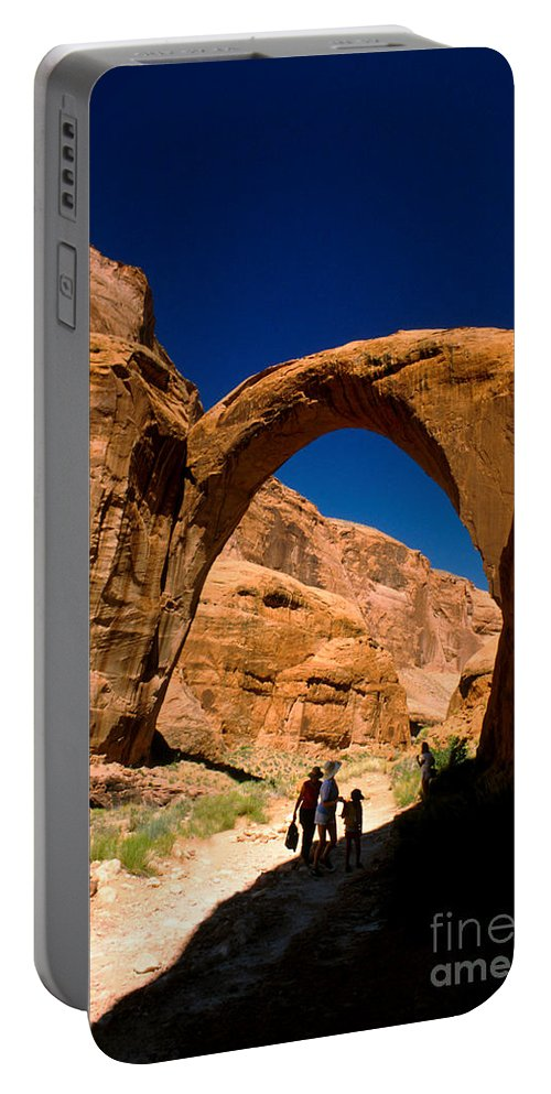 Rainbow Bridge Portable Battery Charger featuring the photograph Rainbow Bridge by Jerry McElroy