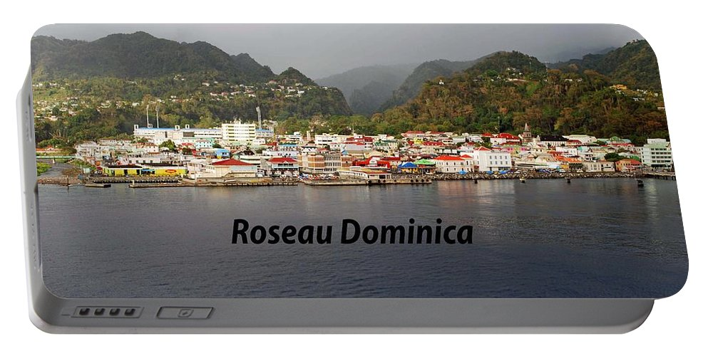 Caribbean Portable Battery Charger featuring the photograph Roseau Dominica by Gary Wonning