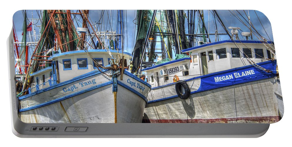 Shrimp Boats Portable Battery Charger featuring the photograph Captain Tang by Dale Powell