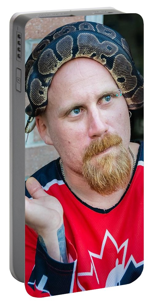 Ball Python Portable Battery Charger featuring the photograph Teammates by Steve Harrington