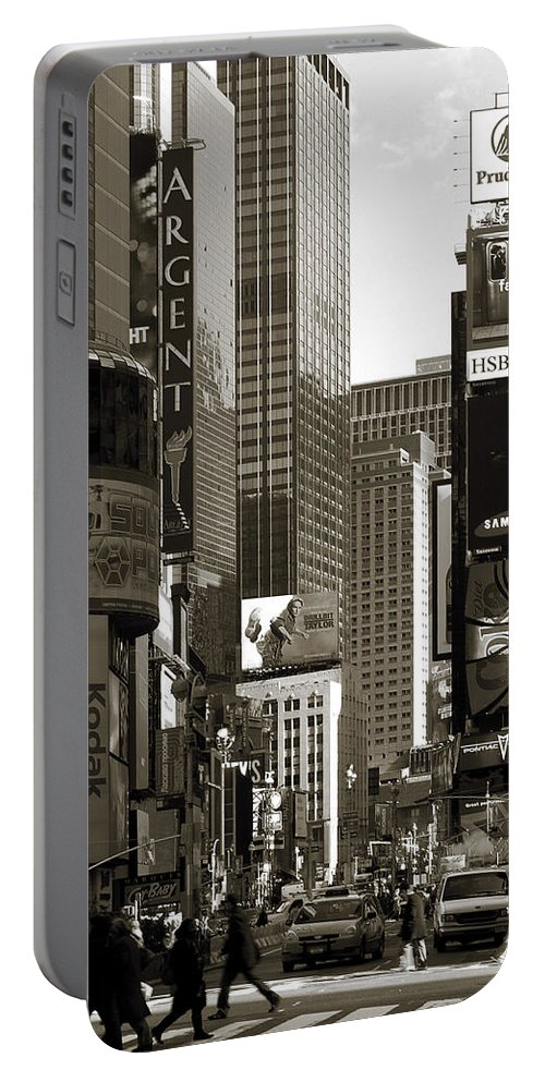 Times Square Portable Battery Charger featuring the photograph Times Square by RicardMN Photography