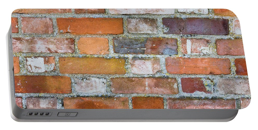 Abandoned Portable Battery Charger featuring the photograph Weathered Wall by Tom Gowanlock