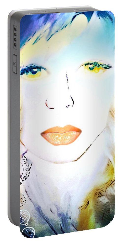 Antoinette Portable Battery Charger featuring the painting Antoinette by Pikotine Art