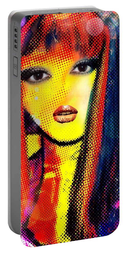 Pikotine Portable Battery Charger featuring the painting Pikotine Art by Pikotine Art