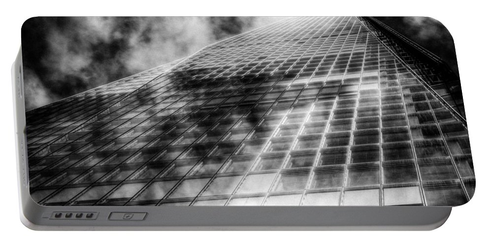 The Shard Tower Portable Battery Charger featuring the photograph The Shard London by David Pyatt