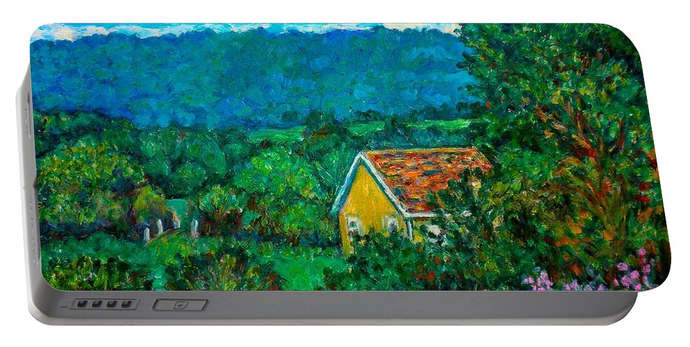 Landscape Portable Battery Charger featuring the painting 460 by Kendall Kessler