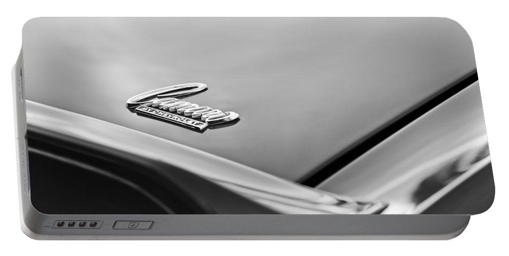 1969 Chevrolet Camaro Emblem Portable Battery Charger featuring the photograph 1969 Chevrolet Camaro Emblem by Jill Reger