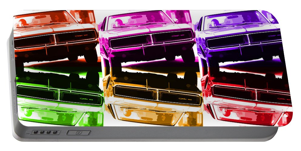 1968 Portable Battery Charger featuring the photograph 1969 Dodge Charger by Gordon Dean II