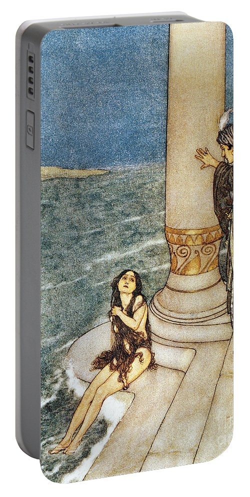 1911 Portable Battery Charger featuring the photograph Andersen: Little Mermaid by Granger