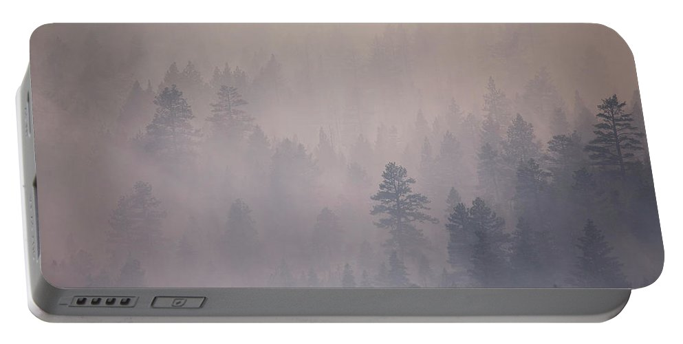 Angora Portable Battery Charger featuring the photograph Angora Fire In South Lake Tahoe, Ca by Justin Bailie