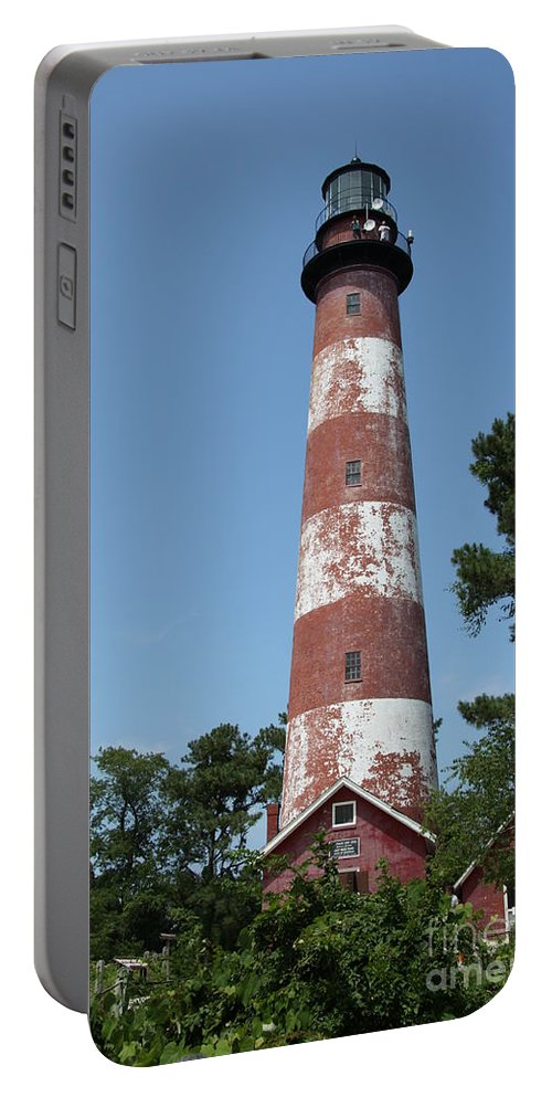 Lighthouse Portable Battery Charger featuring the photograph Assateague Lighthouse by Christiane Schulze Art And Photography