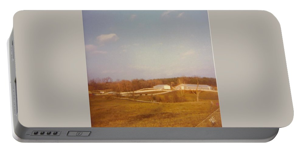 Michigan Farm With Fall Colors Portable Battery Charger featuring the photograph Barns by Robert Floyd