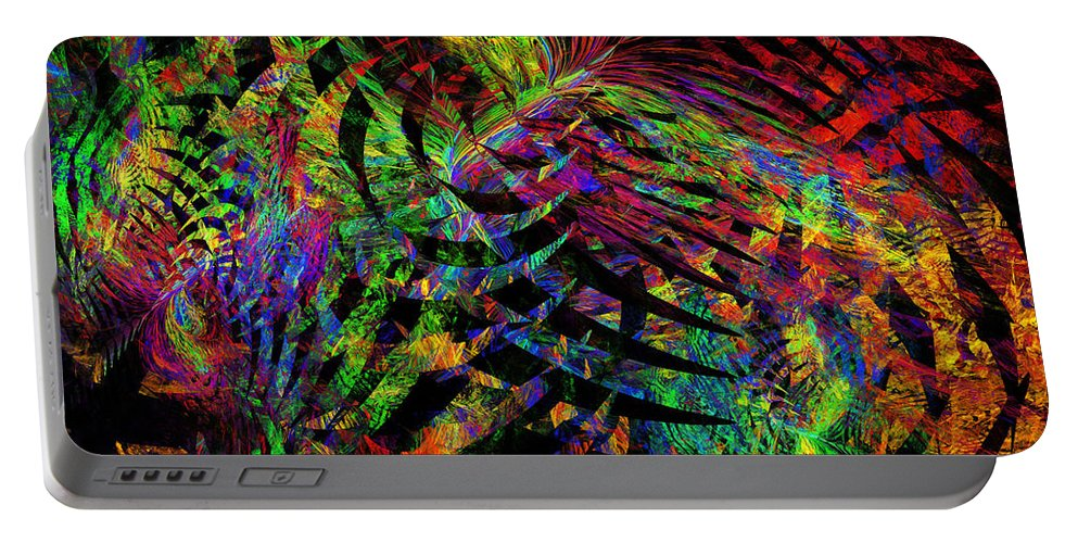 Translucent Portable Battery Charger featuring the photograph Colorful Psychedelic Abstract Fractal Art by Keith Webber Jr