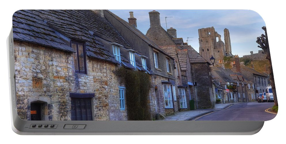 Corfe Castle Portable Battery Charger featuring the photograph Corfe Castle by Joana Kruse