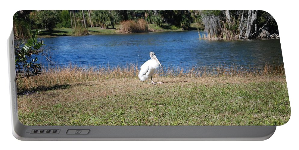 Passing Time Portable Battery Charger featuring the photograph Great White Heron by Robert Floyd