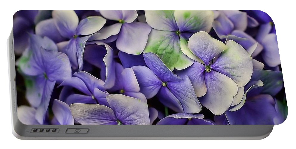 Hydrangea Portable Battery Charger featuring the photograph Hydrangea by Joyce Baldassarre