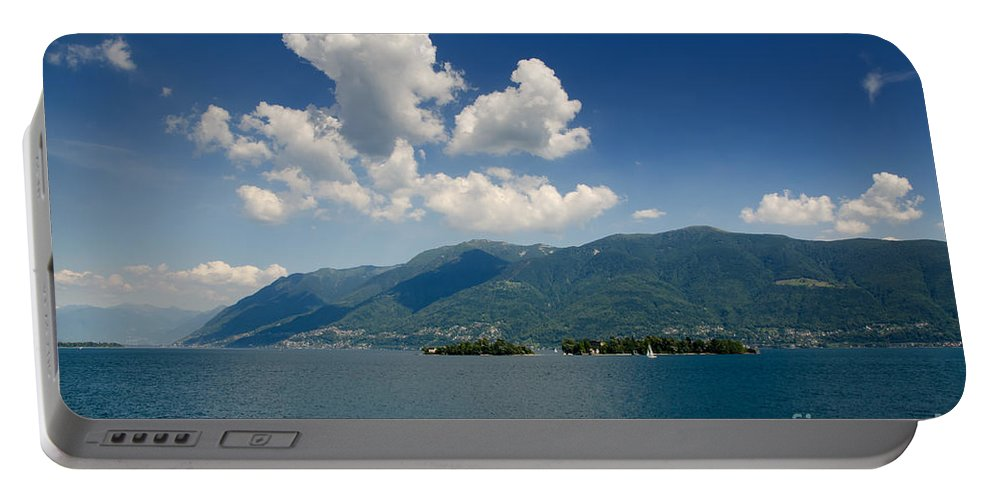 Isalands Portable Battery Charger featuring the photograph Islands On An Alpine Lake by Mats Silvan