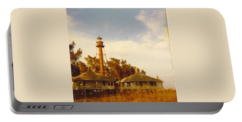 Sanibel Is. Portable Battery Charger featuring the photograph Lighthouse Landscape by Robert Floyd
