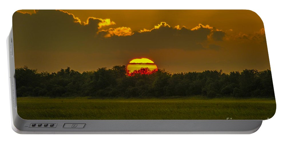 Sunset Portable Battery Charger featuring the photograph Lowcountry Sunset Over The Marsh by Dale Powell