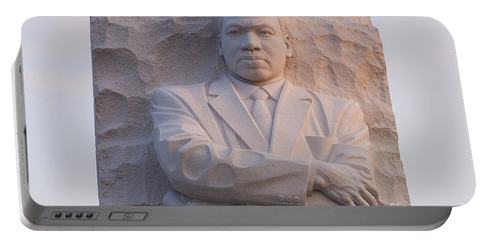 Martin Portable Battery Charger featuring the photograph Martin Luther King Jr Memorial by B Christopher