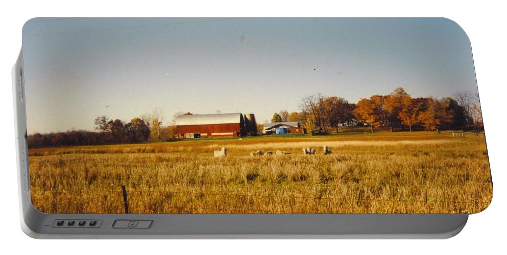 Michigan Barn And Fall Colors Portable Battery Charger featuring the photograph Michigan Barn by Robert Floyd