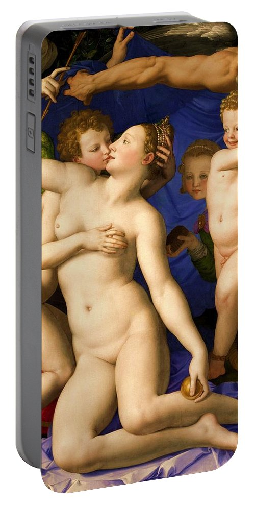 Venus Portable Battery Charger featuring the painting Nude Art by Snowflake Obsidian